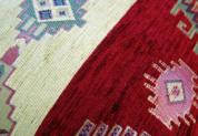 シェニール織りトルコ製クッションカバーキリム/ネイティブデザインレッド2