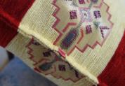 シェニール織りトルコ製クッションカバーキリム/ネイティブデザインレッド3
