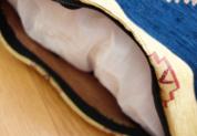 シェニール織りトルコ製クッションカバー (月と星)ターコイズ詳細1