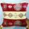 シェニール織りトルコ製クッションカバーキリム/ネイティブデザインレッド1