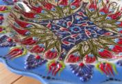 plate18-1 (ラーレブルー)トルコ・キュタフヤ陶器手描きプレート18cm1-3