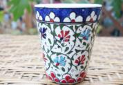 cup-11 (イスラミックカーネーション)手描きのトルコ・キュタフヤ陶器カップ11-1