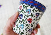 cup-8 手描きのトルコ・キュタフヤ陶器カップ(クラシカルカーネーション)8-3