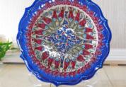 plate18-4 (ラーレネイビー)トルコ・キュタフヤ陶器手描きプレート18cm1-3