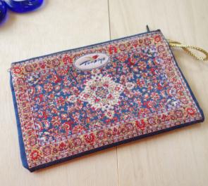 nazapc14 (ペルシャンネイビー)トルコの絨毯柄デザインポーチ