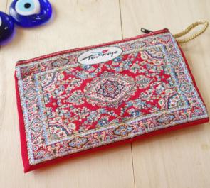 nazapc17 (ペルシャンレッド)トルコの絨毯柄デザインポーチ