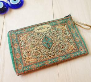 nazapc21 (シャンパンゴールド)トルコの絨毯柄デザインポーチ