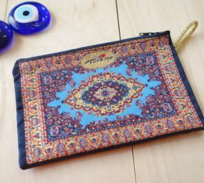 nazapc27 (イスラミックターコイズ)トルコの絨毯柄デザインポーチ