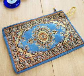 nazapc3 (メダリオンブルー)トルコの絨毯柄デザインポーチ