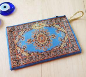 nazapc31 (ペルシャンターコイズ)トルコの絨毯柄デザインポーチ