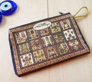 nazapc36 (パッチワーク)トルコの絨毯柄デザインポーチ