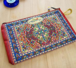 nazapc8 (生命の樹レッド)トルコの絨毯柄デザインポーチ