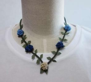 トルコ伝統手芸品 オヤのネックレス